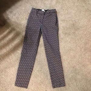 H&M red and black patterned pants 2 EUC